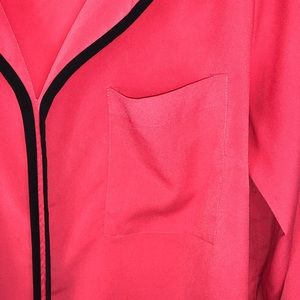 Eloquii Tops - ELOQUII Coral Long Sleeve Blouse Size 14